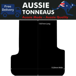 Rubber Ute Mat for Ssangyong Musso Dual Cab LWB with Factory Liner (2018-Curr)