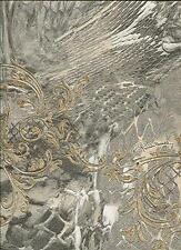 RC14074 - Roberto Cavalli Beige Grey & Gold Glitter Textures Wallpaper