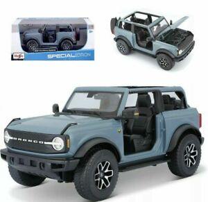 Maisto 1:18 2021 Ford Bronco Badlands Diecast Model Racing SUV Car Blue IN BOX