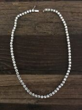 Fashion Crystal Silver Toned Necklace