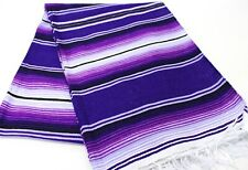 New Genuine Sarape Serape Mexican Blanket Saltillo Southwestern Hot Rod Purple
