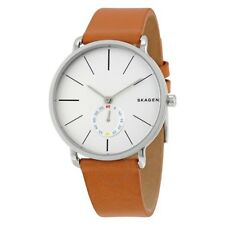 Skagen Hagen SKW6215 Light Brown Leather Strap Silver Men 's Watch