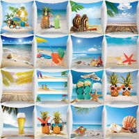 AB_ Summer Beach Seaside Pillowcase Cushion Cover Sofa Bed Chair Home Decor Sala
