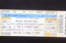 Bruce Springsteen Concert ticket stub 2002 The Rising Tour