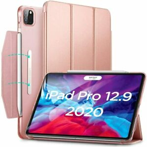 """ESR Yippee Trifold Smart Case Cover for iPad Pro 12.9"""" 2018 and 2020 Rose Gold"""