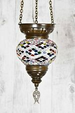 Turkish Moroccan Style Hanging Glass Lantern Tea Light Candle Holder Home Decor