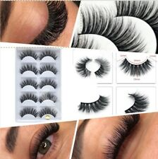5xPairs 3D Fake Eyelashes Long Thick Natural False Eye Lashes Set Mink Make 801