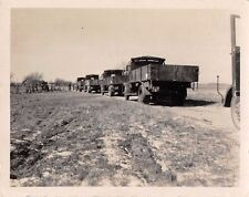 Foto deutsche LKW Kolone in Buxtehude Militärfahrzeuge