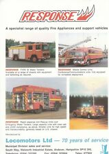 Older LOCOMOTORS Range of Fire Appliances Promotional Flyer