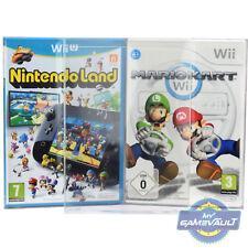 100 x Nintendo Wii Protettori Scatola Gioco U 0.4 mm in Plastica Display Custodia perfetta aderenza