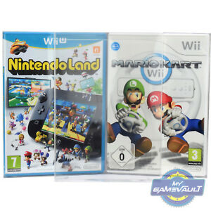 10 x Box Protectors for GameCube Wii U Game STRONG 0.5mm Plastic Display Case