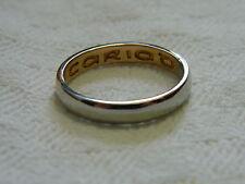 Clogau 18ct Welsh Gold & Platinum Unisex Wedding Ring size M RRP £2,300.00