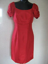Fearne Cotton Red Bow Sleeve Dress Mini Party Dress UK Size 10