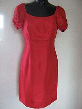 Fearne Cotton fiocco rosso manica Vestito Mini Abito Da Sera UK 10 NUOVI