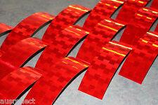 V-6722B RED Reflective Tape - Reflective Strips - HiVis Tape - 20cm Strips