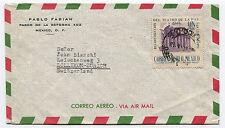 MEXICO, AIR MAIL (1948), STAMP UN PESO CORREO AEREO RECONSTRUCCION TEATRO     m