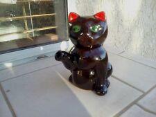 Vintage Black Cat Tea Pot  With Lid