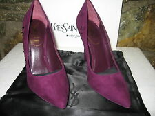 Yves Saint Laurent Purple Pumps with Crystals YSL