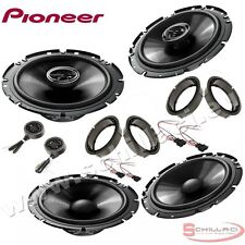 Car stereo front and rear 6 speakers kit for PIONEER Volkswagen VW Scirocco 2008