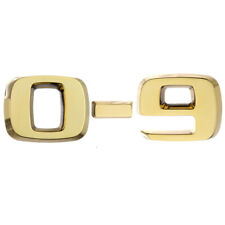 Number - gold 0-9 Luxbling Car Chrome 3D