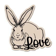 Rabbit Whisperer Sticker J865 6 inch bunny decal