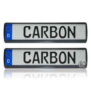 2x Carbon Kennzeichenhalter Tuning Opel Tigra+Speedster+Combo+Vivaro