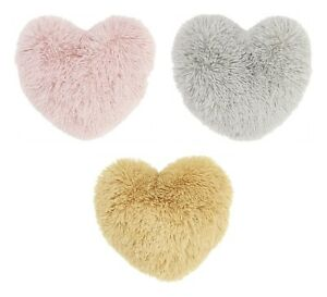 Catherine Lansfield Cuddly Heart 3D Filled Cushion Blush, Silver Or Ochre