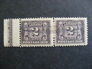 Canada lathework type A postage due Sc J2 used pair, check it out!