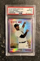 2019 PSA 10 Topps Heritage Eloy Jimenez Chrome Purple Refractor RC #516 LOW POP!