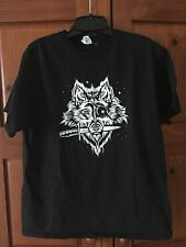 Wolf Space Pirate Black T-Shirt Large