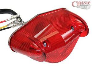 Replica Wipac Rear Lamp Light BSA Bantam D7 D10 D14 B175 Triumph AJS 6 volt