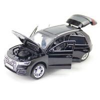 1:32 Audi Q5 SUV Model Car Diecast Toy Vehicle Sound Doors Open Black Kids Gift