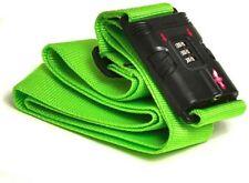 Padlock TSA-Approved Neon Green Luggage Strap Combination Lock Digit Dialing