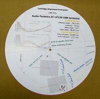Audio-Technica AT-LP120-USB Tonearm Cartridge Stylus Alignment Protractor