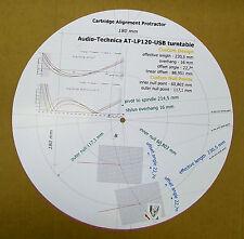 Audio-Technica AT-LP120-USB Phono Cartridge Stylus Alignment Protractor