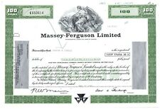 Massey-Ferguson Limited Stock Certificate 100 Shares
