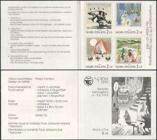 Finlandia 1992 Moomins/Moomin BOOKS/COMIC STRIP/Cartoni Animati/Animazione 4v bklt s4559t