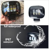 72W 1 6000K 10800LM LED Work Lamp Fog Light for 12V/24V Offroad Car Boat Truck