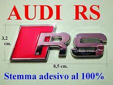 AUDI A1 A3 A4 A5 A6 A7 Q3 SLINE RS S POSTERIORE Stemma Badge Logo Emblema Fregio