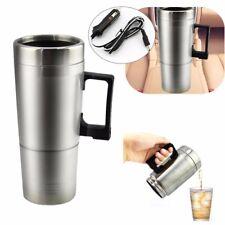 12V Car Heating Stainless Steel Cup Water Coffee Bottle Warmer Heated Travel Mug