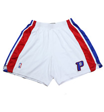 New Reebok NBA Authentics Detroit Pistons Pro Cut Team Issued Shorts White 48 +2