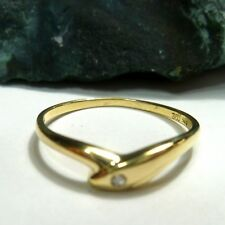 Ring Damenring 56 (17,8 mm Ø) 585 / 14k Gold mit Diamant 0,02ct