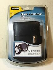Fellowes 98127 Full Grain Slim Leather Case for Compaq iPAQ Black 3600 3700 3800