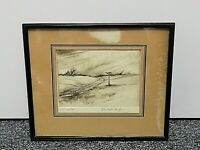Christopher Hughes (British) Framed 20th Century Etching entitled 'The Signpost'