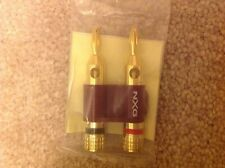 SALE! NEW UNOPENED NXG TECHNOLOGY NX-402 RED 24K GOLD PLATED RED BANANA PLUGS