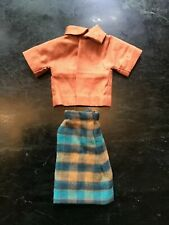 Barbie Vintage Ooak Handmade Skirt and Blouse. Doll Not Included