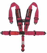 PINK  Racing 5 Point 3'' Safety Belt Harness Polaris UTV RZR XP 1000 900 800