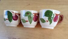Franciscan Apple Coffee Cups (3)  Made in England