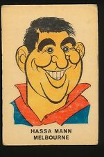 1968 Twisties Sun Valley card Melbourne Hassa Mann Demons