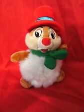 "DISNEY LAND PARIS CHRISTMAS SNOWMAN CHIP N DALE CHIPMUNK  PLUSH 8.5"" SOFT TOY"